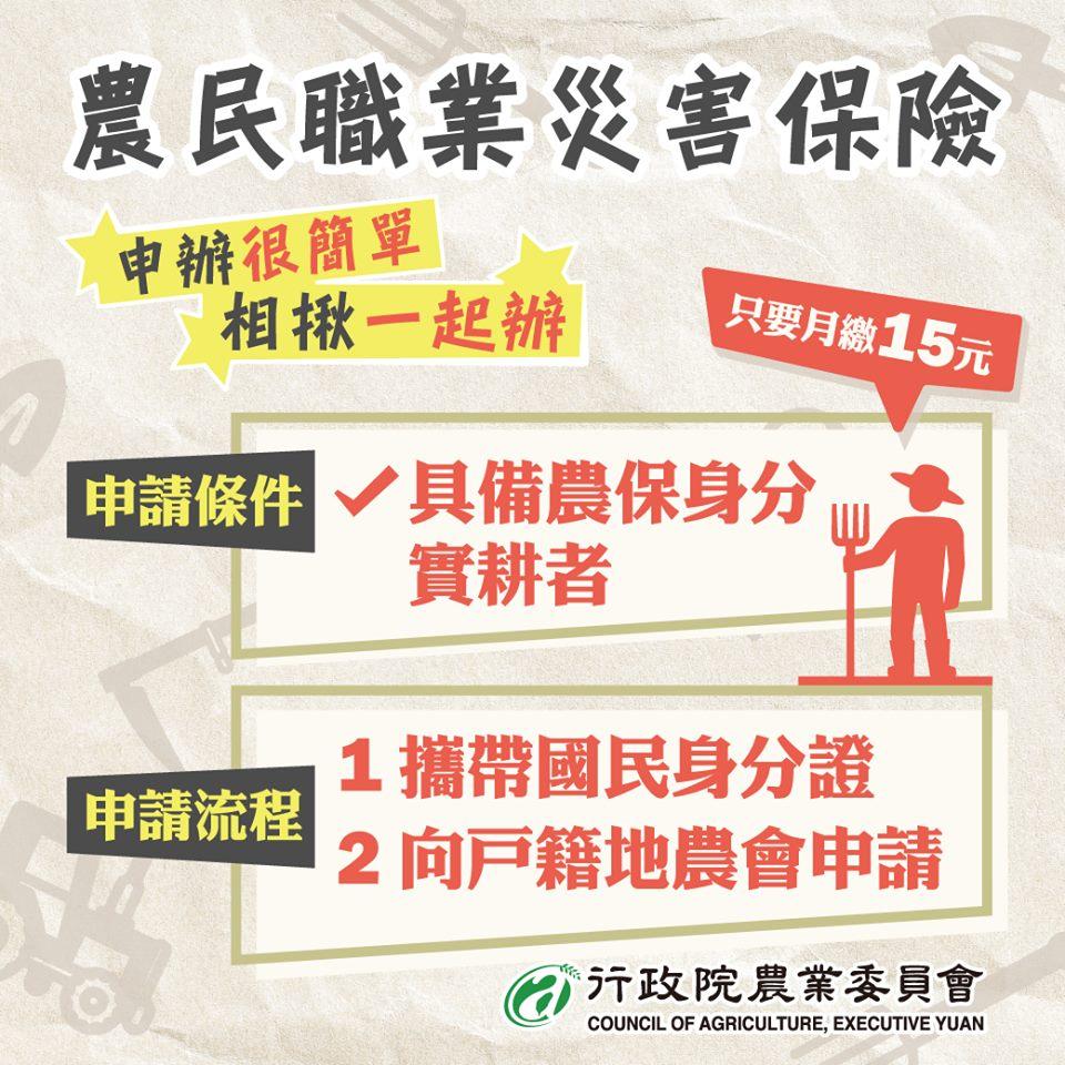 農民職災保險-內文含全台農會聯絡清單